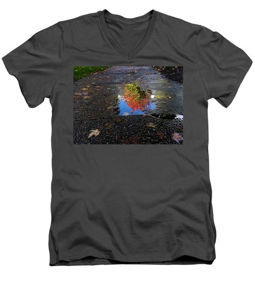 Autumn Reflections Men's V-Neck T-Shirt by Brian Chase