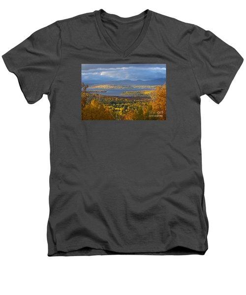 Autumn Splendor Men's V-Neck T-Shirt by Alana Ranney