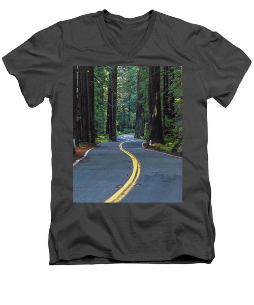 Avenue Of The Giants Men's V-Neck T-Shirt