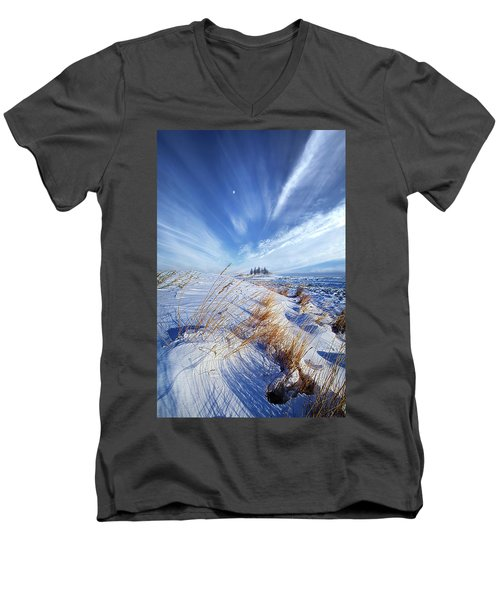 Men's V-Neck T-Shirt featuring the photograph Azure by Phil Koch
