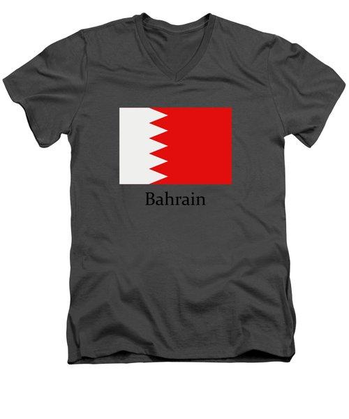 Bahrain Flag Men's V-Neck T-Shirt