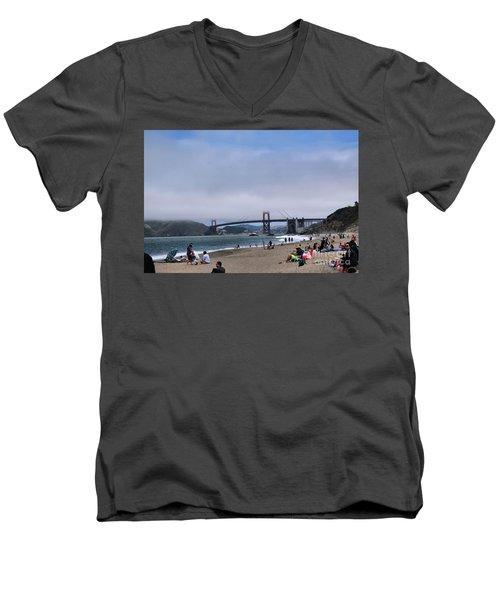 Baker Beach Men's V-Neck T-Shirt