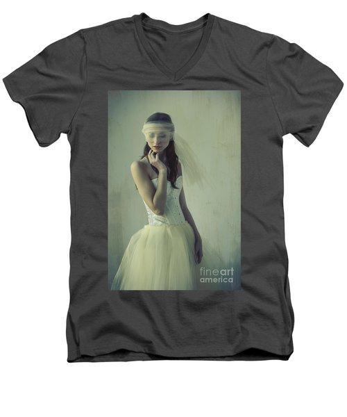 Ballerina Men's V-Neck T-Shirt by Diane Diederich