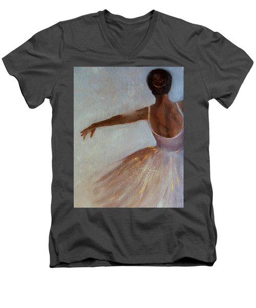 Ballerina  Men's V-Neck T-Shirt by Michele Carter