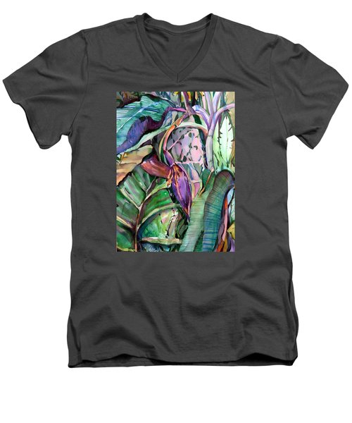 Banana Pod Men's V-Neck T-Shirt by Mindy Newman