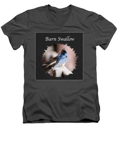 Barn Swallow Men's V-Neck T-Shirt by Jan M Holden