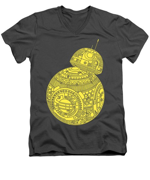 Bb8 Droid - Star Wars Art, Yellow Men's V-Neck T-Shirt