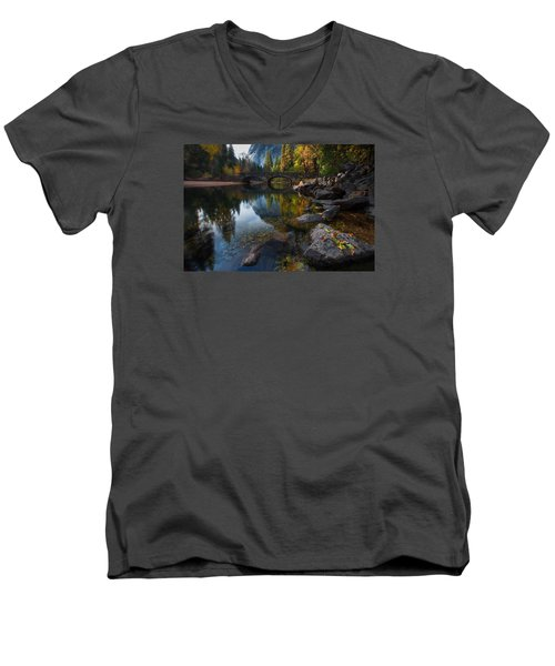 Beautiful Yosemite National Park Men's V-Neck T-Shirt