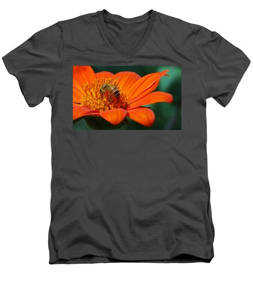 Bee-utiful Men's V-Neck T-Shirt by Debbie Karnes