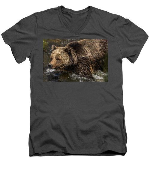 Beryl Springs Sow In The River Men's V-Neck T-Shirt