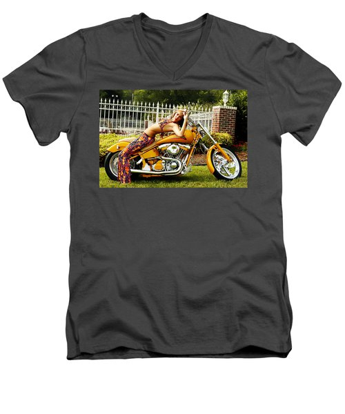 Bikes And Babes Men's V-Neck T-Shirt