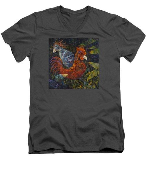 Birditudes Men's V-Neck T-Shirt by Claudia Goodell