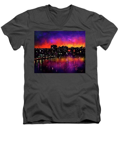 Biscayne Bay, Miami Men's V-Neck T-Shirt