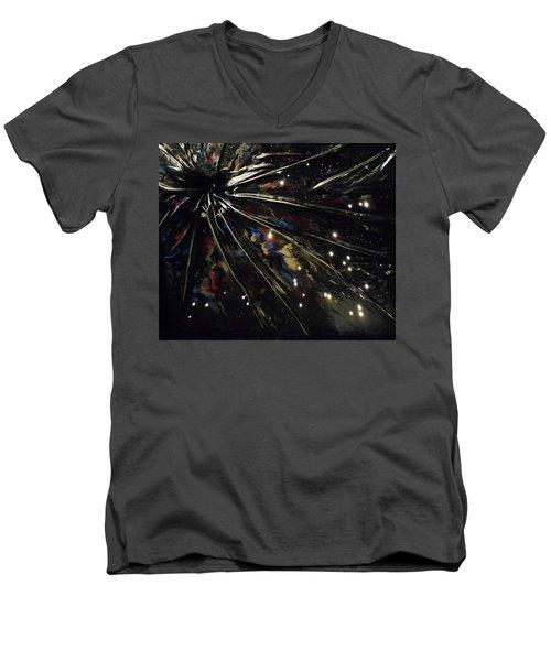 Black Hole Men's V-Neck T-Shirt by Angela Stout