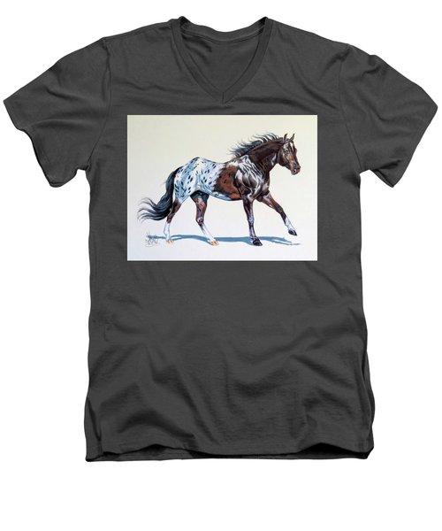 Blanketed Appaloosa Men's V-Neck T-Shirt by Cheryl Poland