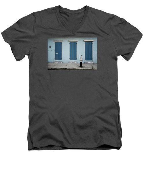 Blue And Silver At 1243 Men's V-Neck T-Shirt