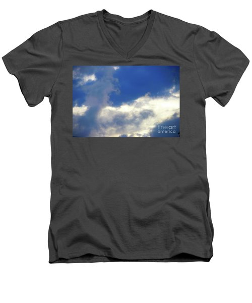 Men's V-Neck T-Shirt featuring the photograph Blue by Jesse Ciazza