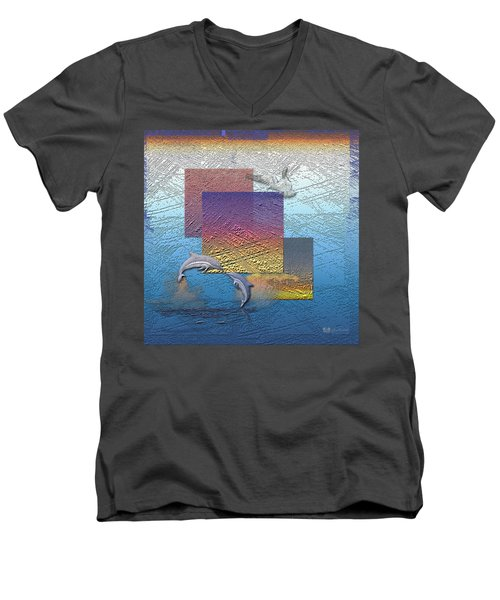 Blue Lagoon Sunrise  Men's V-Neck T-Shirt