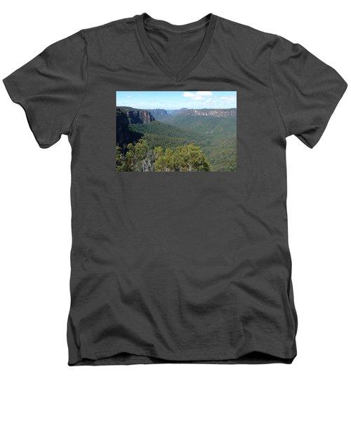 Blue Mountains Men's V-Neck T-Shirt