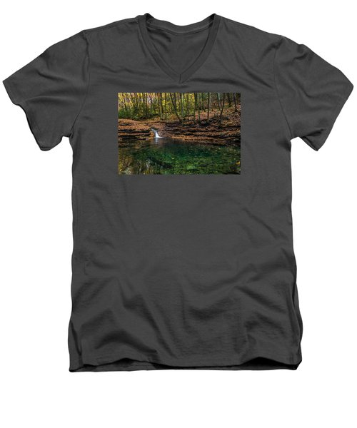 Blue Ridge Cascade Men's V-Neck T-Shirt