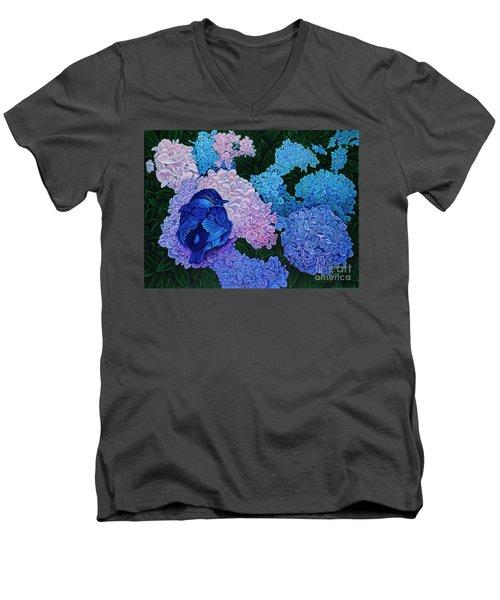 Bluebird Men's V-Neck T-Shirt by Michael Frank