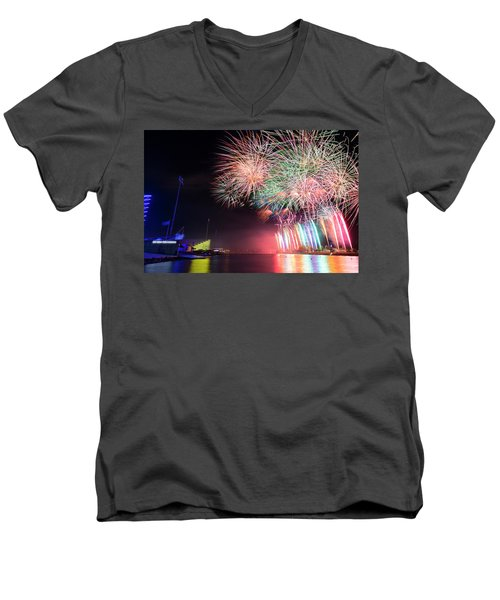 Boathouse Fireworks Men's V-Neck T-Shirt
