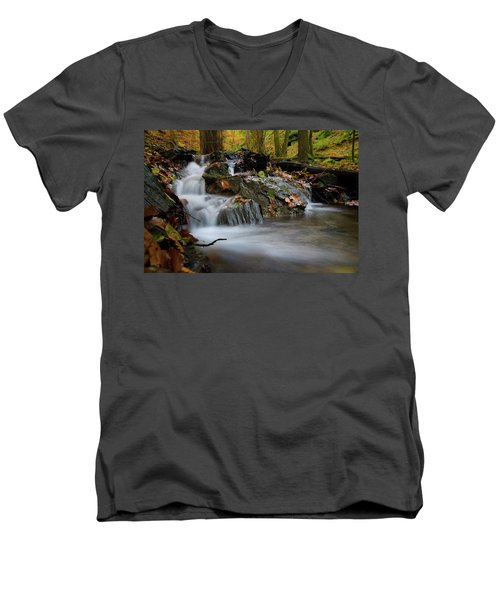 Bodetal, Harz Men's V-Neck T-Shirt by Andreas Levi