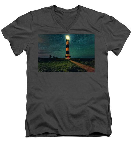 Bodie Island Night Men's V-Neck T-Shirt