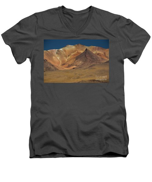 Bolivian Highland Men's V-Neck T-Shirt by Gabor Pozsgai