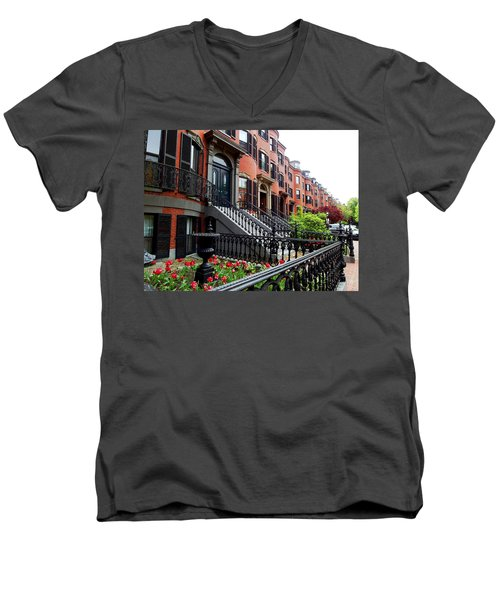 Boston's South End Men's V-Neck T-Shirt