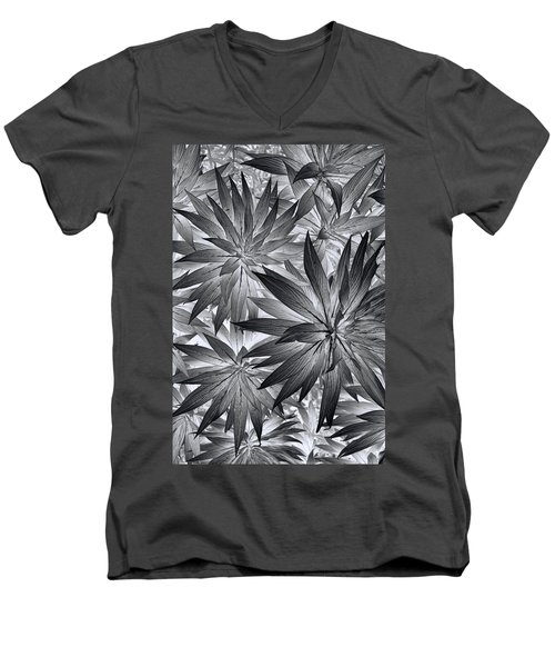 Men's V-Neck T-Shirt featuring the photograph Botanical by Wayne Sherriff