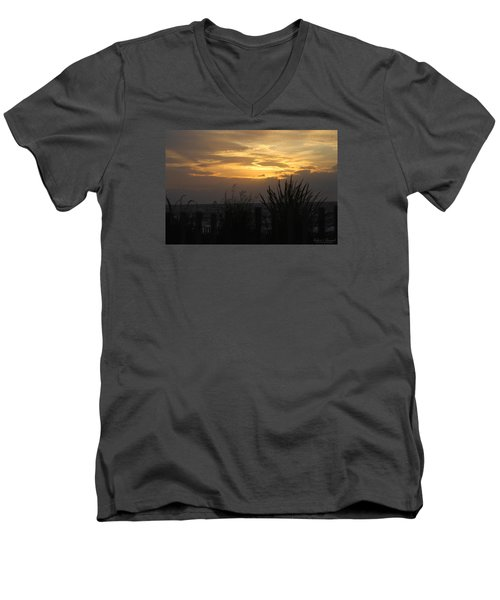 Men's V-Neck T-Shirt featuring the photograph Breaking Dawn by Robert Banach