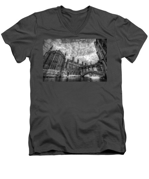 Bridge Of Sighs - Cambridge Men's V-Neck T-Shirt by Yhun Suarez