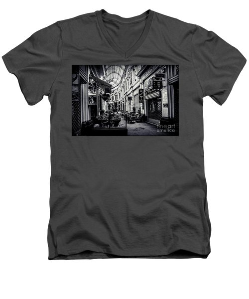 Monochrome Bucharest  Macca - Vilacrosse Passage Men's V-Neck T-Shirt