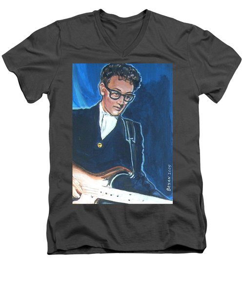 Buddy Holly Men's V-Neck T-Shirt