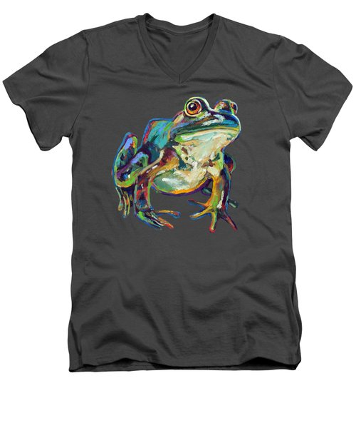 Bullfrog Men's V-Neck T-Shirt