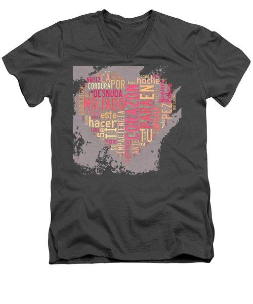 Burbujas De Amor Men's V-Neck T-Shirt