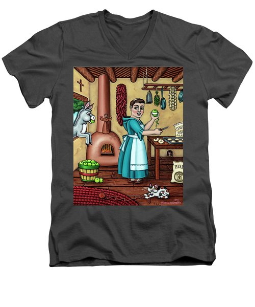 Burritos In The Kitchen Men's V-Neck T-Shirt