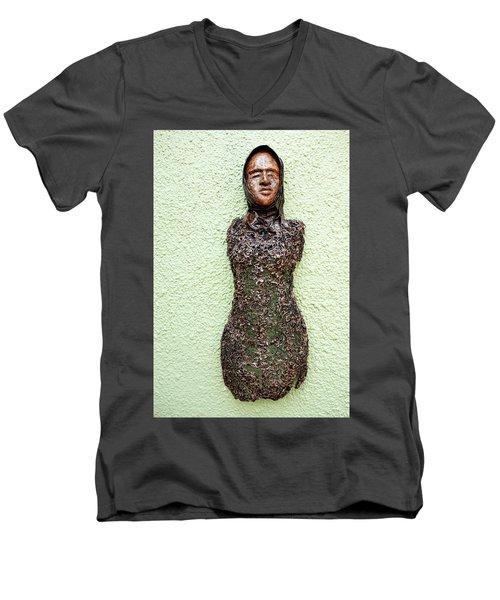 Bust Men's V-Neck T-Shirt by Ronex Ahimbisibwe