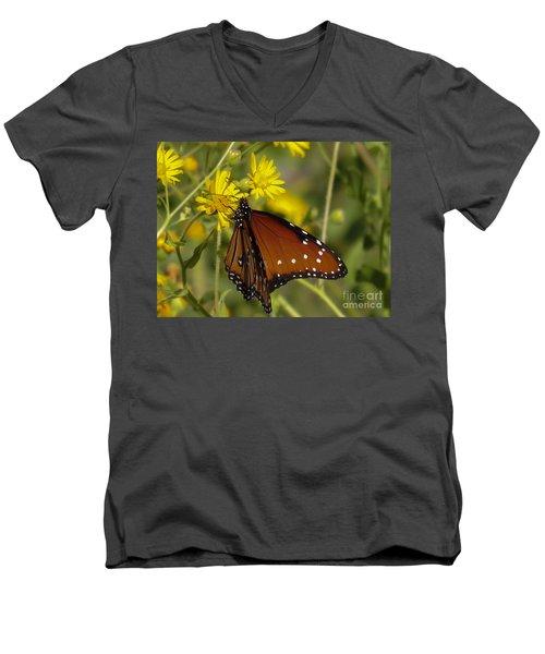 Butterfly 3 Men's V-Neck T-Shirt