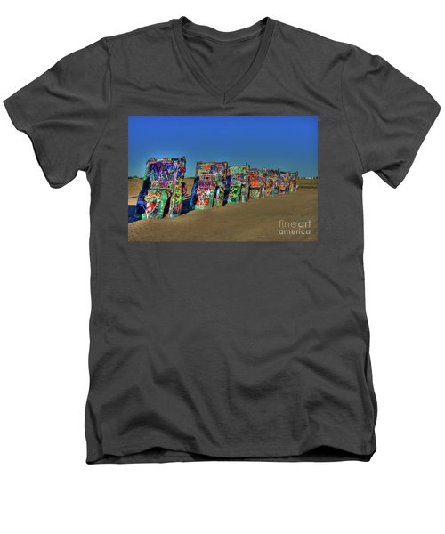 Cadillac Ranch 2 Men's V-Neck T-Shirt