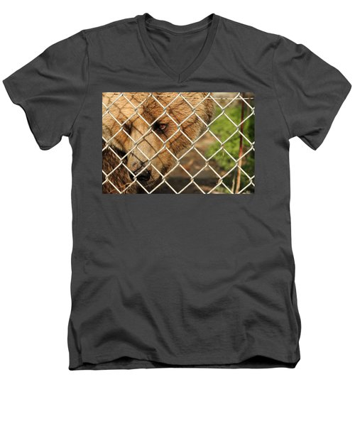Caged Bear Men's V-Neck T-Shirt