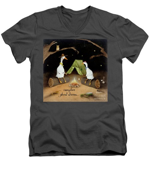 Campfire Ghost Stories Men's V-Neck T-Shirt