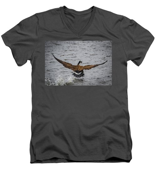 Canada Goose Men's V-Neck T-Shirt by Ray Congrove