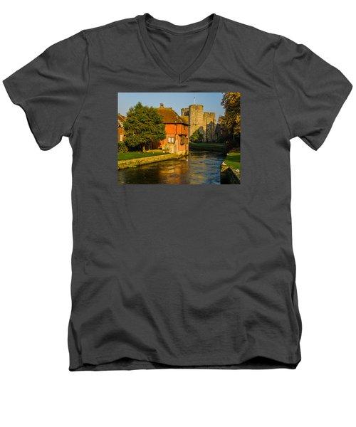 Canterbury Men's V-Neck T-Shirt by Daniel Precht