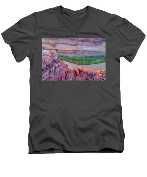 Canyon Of Colorado River - Sunrise Aerial View Men's V-Neck T-Shirt