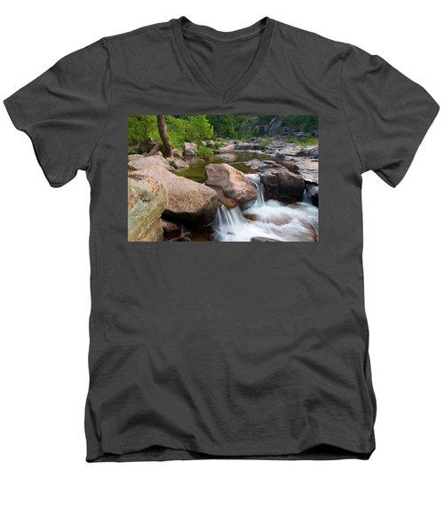 Castor River Shut-ins Men's V-Neck T-Shirt by Steve Stuller