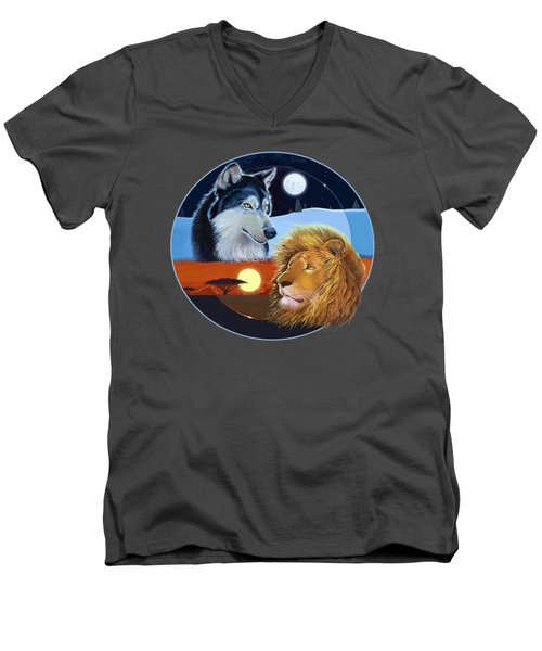 Celestial Kings Circular Men's V-Neck T-Shirt by J L Meadows