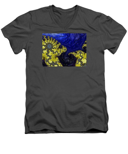 Men's V-Neck T-Shirt featuring the photograph Celestial Storm by Ronda Broatch