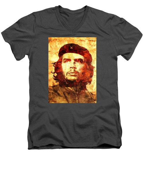 Che Guevara Men's V-Neck T-Shirt by J- J- Espinoza